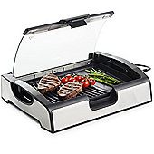 VonShef Electric Health Grill Table Griddle Indoor Barbecue BBQ with Glass Lid