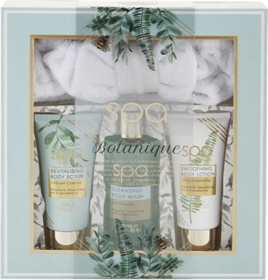 Style & Grace Spa Botanique Calming Collection Gift Set 200ml Body Wash + 70ml Body Lotion + 70ml Body Scrub + Headband
