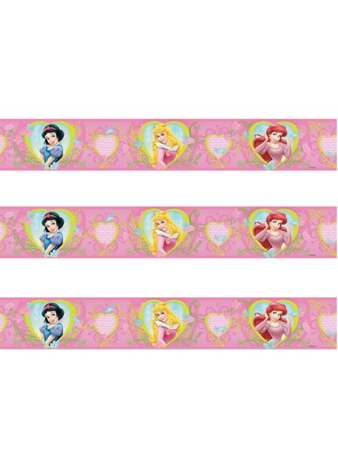 Disney Princess Hearts and Flowers Self Adhesive Wallpaper Border 5m
