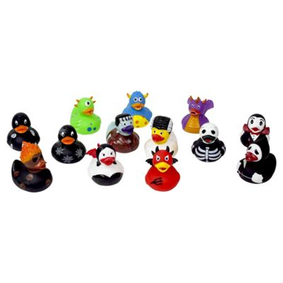 Lilalu 12pc Complete Halloween Horror Collectible Rubber Duck Set
