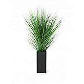 Artificial 3ft Onion Grass in Black Wooden Planter