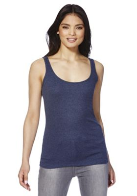 F&F Scoop Back Ribbed Vest 10 Blue