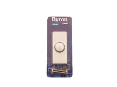 Byron 7910 Franc Bell Push White