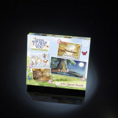 Paul Lamond Guess How Much I Love You 4-in-1 Jigsaw Puzzles Age 3+