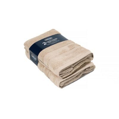 Silentnight 100% Cotton 525gsm 2 Piece Hand Towel Set - Stone