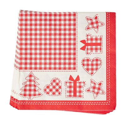 Nordic Red Christmas Napkins