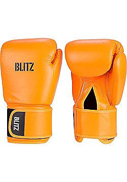 Blitz - Standard Leather Boxing Gloves - Neon orange