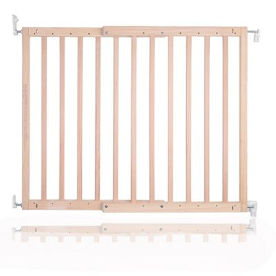 Safetots Chunky Wooden Screw Fit Pet Gate Natural 63.5cm - 105.5cm