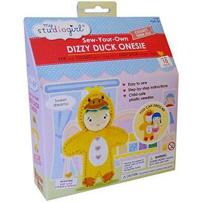 University Games My Studio Girl Sew-your-own Dizzy Duck Onesie