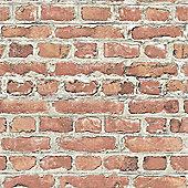 Rasch Red Brick Effect Wallpaper (235203)