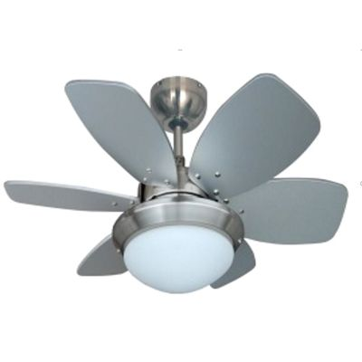 Minisun Spitfire 30 inch Ceiling Fan with Light - Brushed Chrome