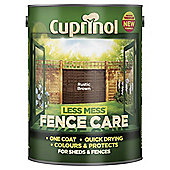 Cuprinol Less Mess Shed & Fence Care, Rustic Brown, 5L
