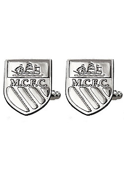 Manchester City FC Chrome Cufflinks Gift Boxed