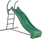 Heavy Duty Wavy Garden Slide with Strong Metal Steps - 3m long slide with1.5m high steps