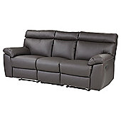Carlton Large 3 Seater Sofa, Chocolate Leather-effect