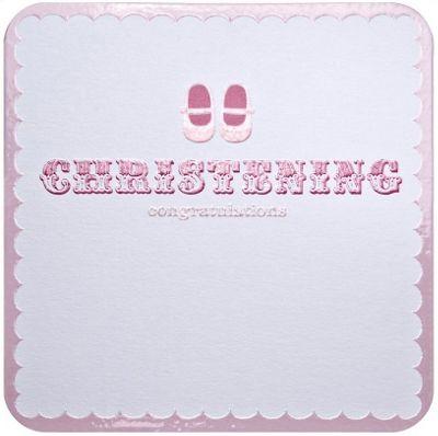 Cutie Pie Christening Card