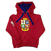 British & Irish Lions Rugby Kids Logo Hoodie - Red