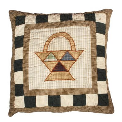 Woven Magic Primitive Sampler Antique Plaids Basket Cushion