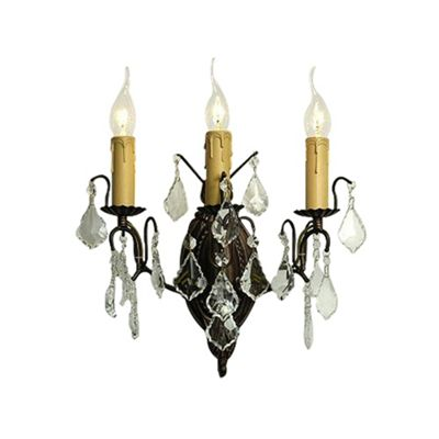 Charlotte Bronze Wall Light - 3 Arm