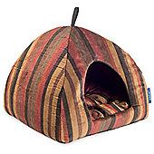 Ancol Sleepy Paws Pyramid Bed - Rich Stripe