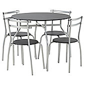 Tesco Breakfast Table and 4 Chair Set, Black