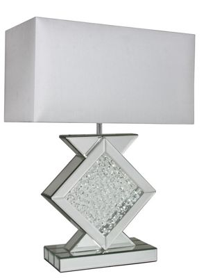 Mirror Astoria Large Table Lamp With Rectangular 22 Inch White Shade