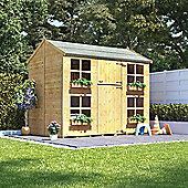 Mad Dash Gingerbread Max Wooden Playhouse with Internal Bunk, 7ft x 5ft