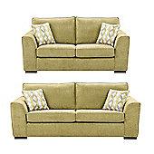 Boston 2.5 Seater + 3 Seater Sofa Set, Green