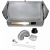 Cookology Twin Motor Integrated Cooker hood INT605SI | 60cm Built-in Cupboard Extractor Fan & Ducting Kit