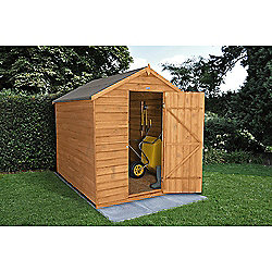 Forest Garden 8x6 Overlap Dip Treated Apex Shed No Windows