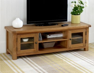 Worcester - Extra Large Oak TV Stand / XL Oak TV Unit