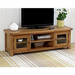 Worcester Extra Large Oak Tv Stand Xl Oak Tv Unit