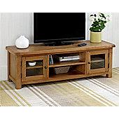 Worcester - Extra Large Oak TV Stand / XL Oak TV Unit