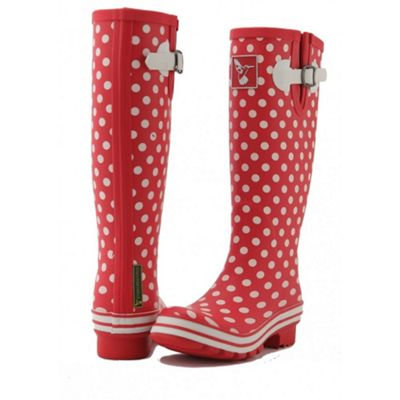Evercreatures Ladies Evergreen Wellies White Polka Dots 5