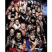 WWE Raw VS Smackdown Mini Poster 40x50cm
