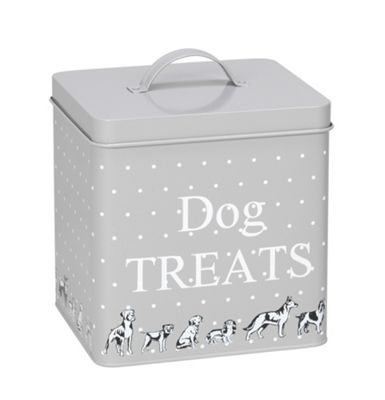 Polka Dogs Print Treat Tin Small