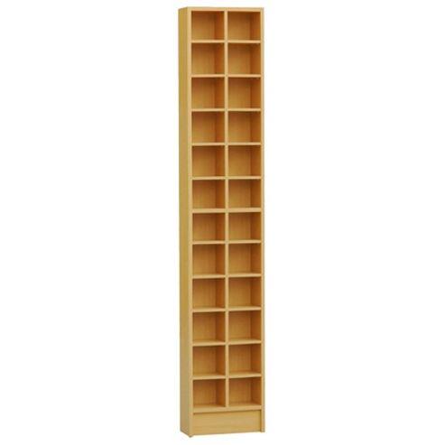 Techstyle Tall Sleek CD / DVD Media Storage Tower Shelves - Beech