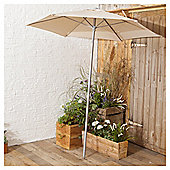 Tesco Parasol In Mesh Bag, Cream, 1.8m