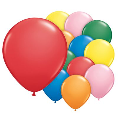 Assorted 5 inch Latex Balloons - 100 Pack