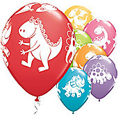 Cute & Cuddly Dinosaurs 11 inch Latex Balloons - 25 Pack