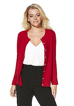 F&F Cashmere Cardigan - Red