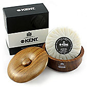 Kent Dark Oak Wood Shaving Bowl with Kent Luxury Soap - SB3