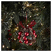 Pinecone and Berry Christmas Tree Decoration