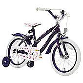 """Terrain Purple Flowers 16"""" Wheel Kids Bike"""