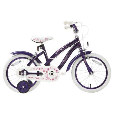 Terrain Purple Flowers 16 inch Wheel Kids Bike