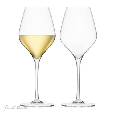 Final Touch Lead Free Crystal White Wine Glasses Set of 2 440ml