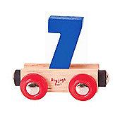 Bigjigs Rail Rail Name Number 7 (Dark Blue)