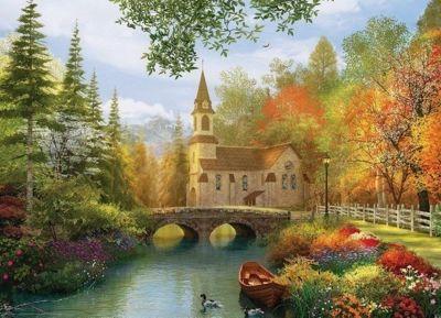 Autumn Church - 1000pc Puzzle