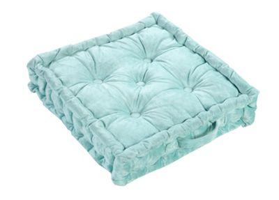 EHC Velvet Booster Cushion, Duck Egg