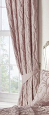Bentley pencil pleat curtains - blush